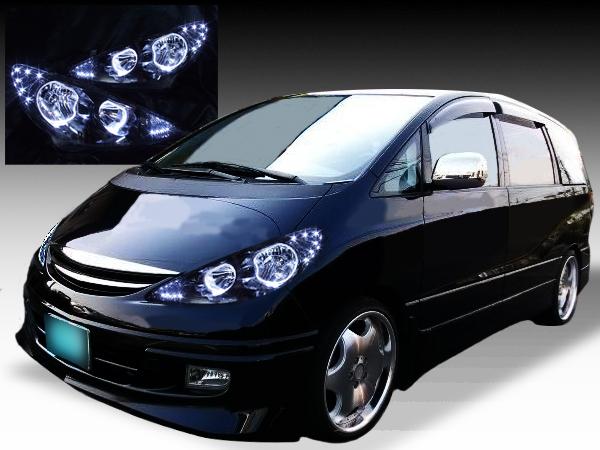 新品■ブラックACR30エスティマ後期イカリングHIDヘッドライトEG