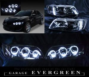 美品ランエボ7 8 9ランサー ブラック&イカリング ヘッドライト加工EG