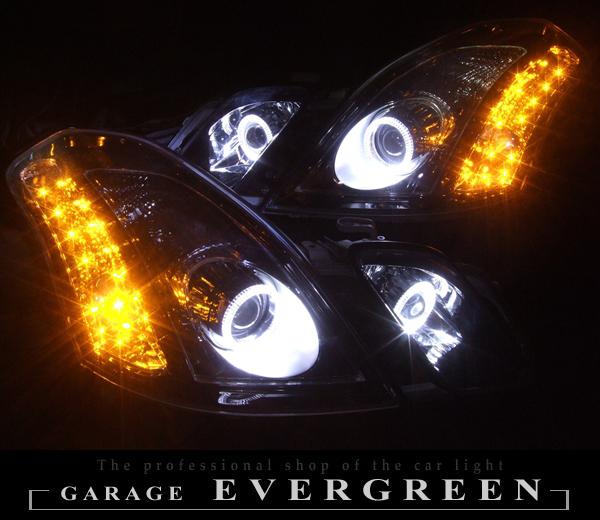 GX110W/GX115W/JZX110W/JZX115W マークⅡ ブリット 前期Hiプロジェクターインストール&ブラック&イカリング ヘッドライト