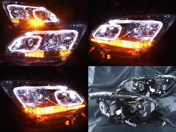 マークX ジオ LEDイカリング ヘッドライト