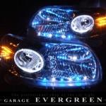 NNP10 ポルテ 前期青/白/橙LED&LEDイカリング ヘッドライト