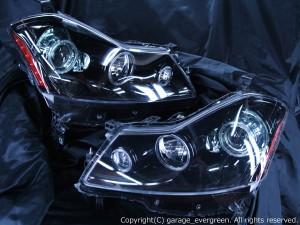 特価■HID付■Y50フーガGTブラック&イカリングLEDヘッドライトEG