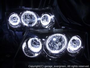 HID付■ブラック Y34グロリア後期 LEDイカリング ヘッドライトEG