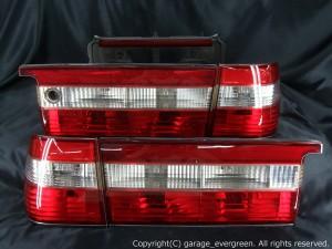 15 クラウン 前期 テールライト ガーニッシュ付き インナー加工 反射板内蔵 クリア クリスタル テールランプ セット