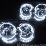 L150S L160S L152S ムーヴ カスタム 後期 (ムーヴ) アンダーラインLED&LEDイカリング ヘッドライト