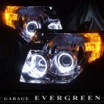 CBA V93W V97W V83W V87W V98W V88W パジェロ ショート/ロング共通 LEDイカリング ヘッドライト
