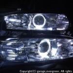 BG系 レガシィ LEDイカリング&ウィンカークリア加工 ヘッドライト