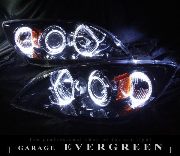 BK系 アクセラスポーツ ブラッククロム&LEDイカリング ヘッドライト