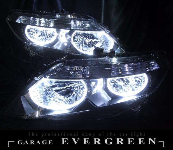 GJ1/GJ2 エアウェイブ ハロゲンベース 限定復刻 純正加工 カスタムヘッドライト 4連高輝度白色イカリング増設 仕様