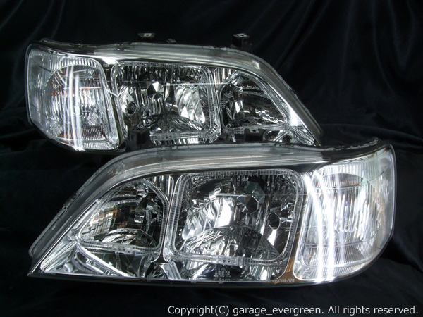 KA9 レジェンド後期 ヘッドイト 純正HID バーナー・バラスト付 イカリング4連装&増設高輝度LED 仕様