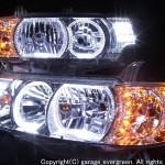 スワロスフキー&オレンジLED&イカリング ヘッドライト