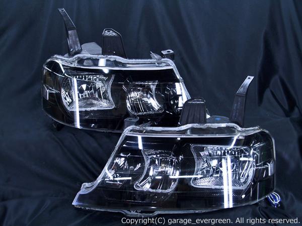 RF3/4/5/6/7/8系 ステップワゴン 後期 限定 インナーブラッククロム  高輝度白色4連イカリング 仕様