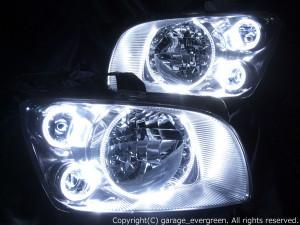 M35 ステージア 前期 ドレスアップヘッドライト 純正HID バーナー・バラスト付 高輝度LEDイカリング クリスタル ヘッド