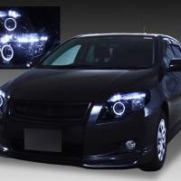 NZE/ZRE 141/142/144 前期 カローラ フィールダー/アクシオ 新品ベース 限定色 ブラッククロム インナーブラック&LEDイカリング&白色LED増設 仕様