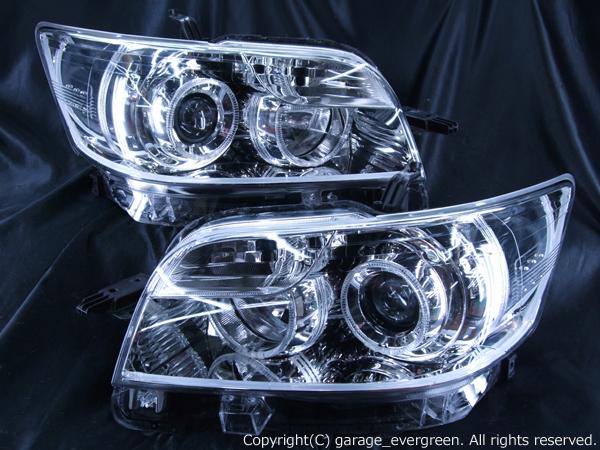 E15系 カローラルミオン 前期/後期 ドレスアップライト 希少 後期 On Bリミテッド シルバーメッキインナーベース アクリルファイバー&4連イカリング&増設12発LED仕様