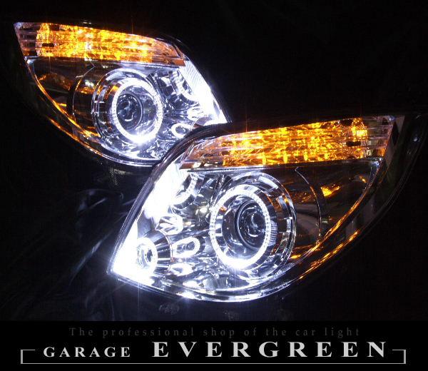 XS/T/TS パレット 前期 オレンジLED&LEDイカリング ヘッドライト