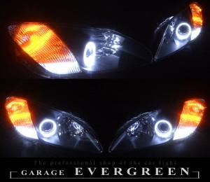 S2000 AP1 前期 ヘッドライトセット 4連白色イカリング&増設高輝度LED 仕様