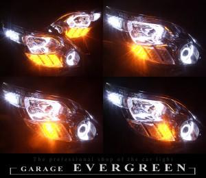 ★20アルファード前期★イカリング4連装&高輝度白色LED増設 流れるLEDウインカー仕様 レンズクリーニング・コーティング済み オーダーLED加工ドレスアップヘッドライト