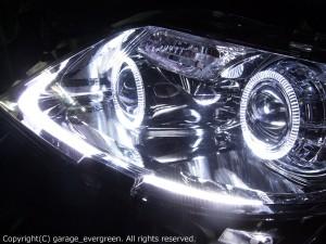 ★★ブラック&イカリング4連装&増設高輝度LED インナーブラッククロム 仕様 レンズクリーニング・コーティング済み オーダーLED加工ドレスアップヘッドライト