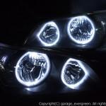 ★アルテッツァ 後期★高輝度白色LEDイカリング4連装 インナー艶消しブラック塗装仕様 レンズクリーニング・コーティング済み オーダー加工ドレスアップヘッドライト