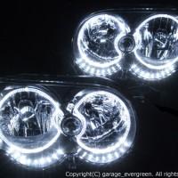 ★L150系 ムーブ 後期★イカリング4連装&増設高輝度白色LED増設 レンズクリーニング・コーティング済み オーダーLED加工ドレスアップヘッドライト