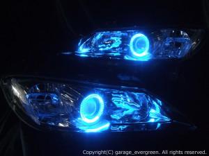 ★RX-8後期★高輝度青色LEDイカリング2連装 レンズクリーニング・コーティング済み オーダーLED加工ドレスアップヘッドライト