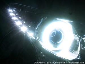 ★50エスティマ前期★白色CCFLイカリング4連装&高輝度白色LED&インナーブラッククロム塗装 レンズクリーニング・コーティング済み オーダー加工ドレスアップヘッドライト