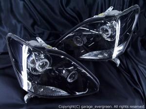 UCF30/31 セルシオ後期 ■HID4灯化■ ヘッドライト 純正加工 インナー ブラッククロム Hi/Low切替バイキセノンプロジェクター&CCFLイカリング仕様