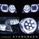 Y33シーマ ハロゲンベース バルカンプロジェクター&LEDイカリング ヘッドライト