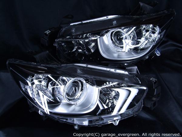 CX-5 KE系 純正ヘッドライト加工 高輝度LED&白色イカリング 仕様