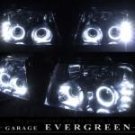 4連白色イカリング&増設高輝度LED ヘッドライト