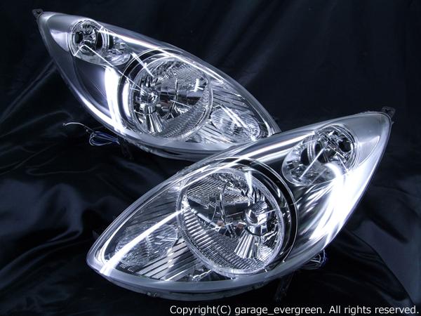 高輝度LED4連イカリング仕様 希少 純正メッキインナー ベース JB5/JB6/JB7/JB8 ライフ前期 ヘッドライト