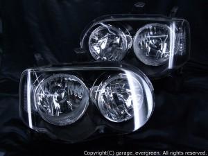 高輝度LEDイカリング4連装 仕様 ヘッドライト ムーブ ムーヴ カスタム L150 L160系 前期