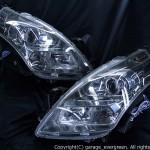 LY3P系 MPV 前期/後期共通 純正 スモークメッキインナー ベース イカリング4連装&18発高輝度白色LED 仕様