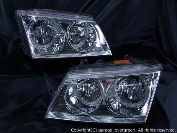 高輝度LED白色イカリング4連装 仕様 純正HID バーナー・バラスト付 U30 プレサージュ 前期 ヘッドライト