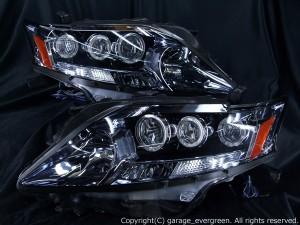 レクサス RX 450h LEDヘッドライト 純正加工 前期ベース 増設6連白色高輝度LEDイカリング 仕様