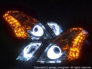 110系マークⅡブリット 前期 クリスタルライト イカリング4連装&高輝度LED増設24発 仕様