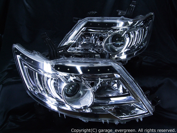 C25セレナ 後期 純正HID車用 ヘッドライト LEDイカリング&高輝度LED増設 仕様