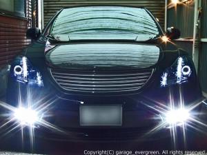GRS200/GRS201/GRS204 クラウン アスリート 前期/後期 白色LED増設&ブラック&LEDイカリング 仕様