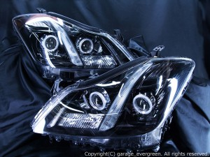 GRS200/GRS201/GRS204 クラウン アスリート 前期/後期 純正加工 バイキセノンプロジェクターインストール プロジェクター&LED増設&ブラック&CCFLイカリング