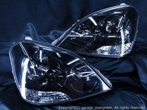 30・31 セルシオ 前期 ドレスアップヘッドライト  限定色 インナーブラッククロム仕様
