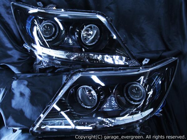 RR1/RR2/RR5/RR6 エリシオン プレステージ 前期 ブラック&4連イカリング&LED増設&ウィンカークリア仕様