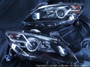 SE3P RX-8 前期 ドレスアップヘッドライト 4連白色イカリング&増設高輝度LED 仕様