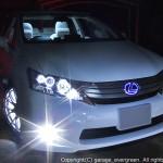 6連高輝度イカリング&サイドマーカー塗装 レクサス HS 250h ANF10 前期 ドレスアップヘッドライト