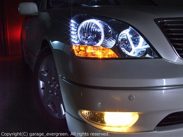 UCF30/UCF31 セルシオ 前期 限定 ホワイトLED増量モデル 純正加工品 LEDイカリング4連装&増設36発高輝度LED 仕様