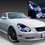 40系ソアラ LEDイカリング ヘッドライト 限定色 インナーブラッククロム ブラック&増設LED&高輝度LEDイカリング 仕様