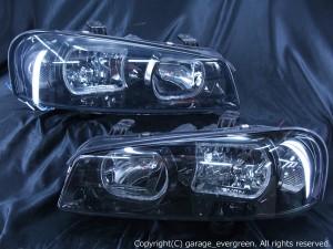 HR34 ER34 ENR34 スカイライン前期/BNR34 GT-R 前期  LEDイカリング ドレスアップヘッドライト