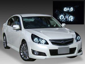BM/BR系 レガシィ 前期 純正HID車用 純正ドレスアップヘッドライト純正インナーブラックベース 4連CCFLイカリング 仕様