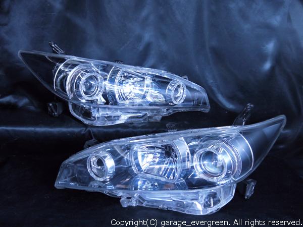 トヨタ 20系 ウィッシュ 前期/後期 純正HID車用 純正ドレスアップヘッドライト 6連高輝度白色LEDイカリング