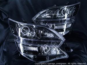 ヴェルファイア 純正ブラックメッキインナー 純正AFS装備車ベース CCFL4連イカリング&増設高輝度LED 仕様